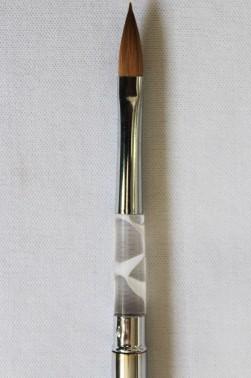 "XDT Quality Brush: Kolinsky Travel Brush Triangle Tip 1/4"""