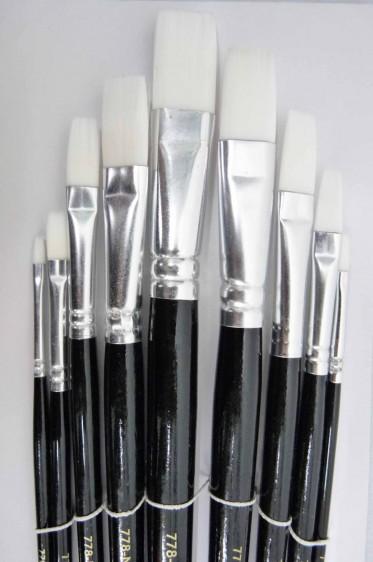 Berkeley Brush: 778NGF Flat Nylon 9pcs Set