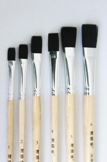 XDT Quality Brush: Black Synthetic Nylon Flat Set
