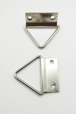 Canvas & Frame Double Hole D-Ring Hanger Hook Triangle 2pcs.