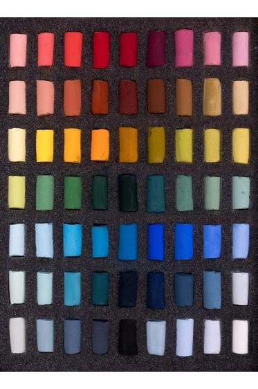 Unison Colour Handmade Soft Pastel: Starter 63 Half-Stick Set