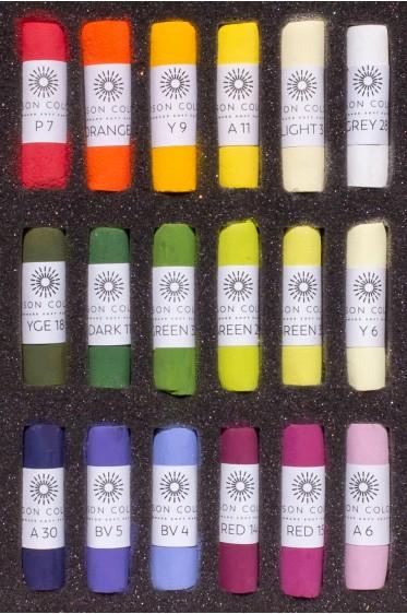 Unison Colour Handmade Soft Pastel: Special Edition Botanical 18 Set