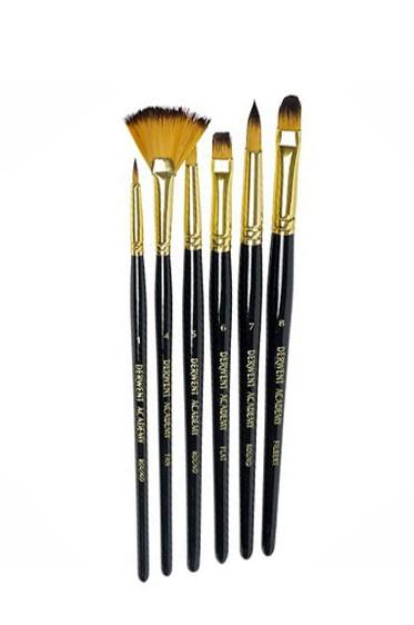 Derwent Taklon Brush  6pcs Set