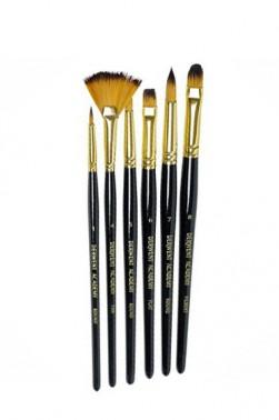 Derwent Taklon Brush  6pcs Set (Long Handle)