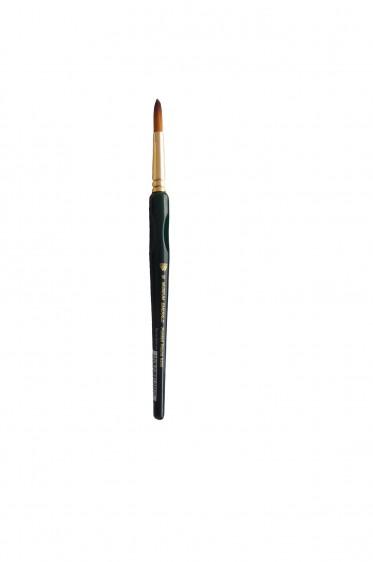 Weber Museum Emerald Brush: Golden Taklon Pointed Round 10