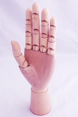"Wooden Mannequin & Models: Wooden 7"" Left Hand Manikin"