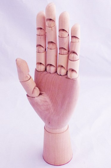 Wooden Mannequin & Models: Wooden Female Left Hand Manikin