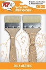 Pebeo Pop Art Brush:  Oil & Acrylic Artist Set 2pcs