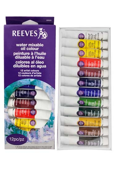 Reeves Watermixable Oil Paint 12 Colors Set 10ml