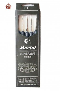 Maries Martol  Brush Pure Red Sable 5pcs Set