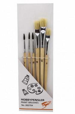 Tiger Hobbypensler Brush Set 6pcs