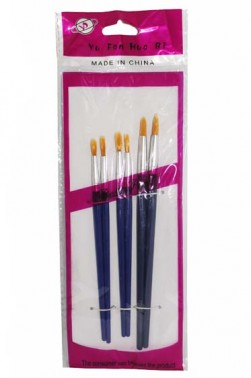 Tiger Nylon Round Brush Set 6pcs