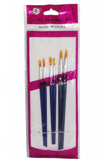 Tiger Nylon Brush Set 6pcs