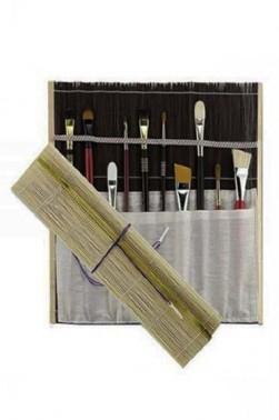 Carrying Case: Studio Line Brush Mat Bamboo Brush Mat Deluxe (cream)