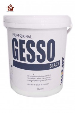 Kulay Acrylic Medium: Kulay Pro Acrylic Gesso Black 1 Gallon
