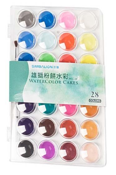 Simballion Watercolor:  Simbalion Watercolor 28pcs Set