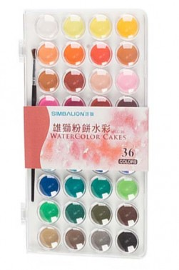 Simballion Watercolor:  Simbalion Watercolor 36pcs Set