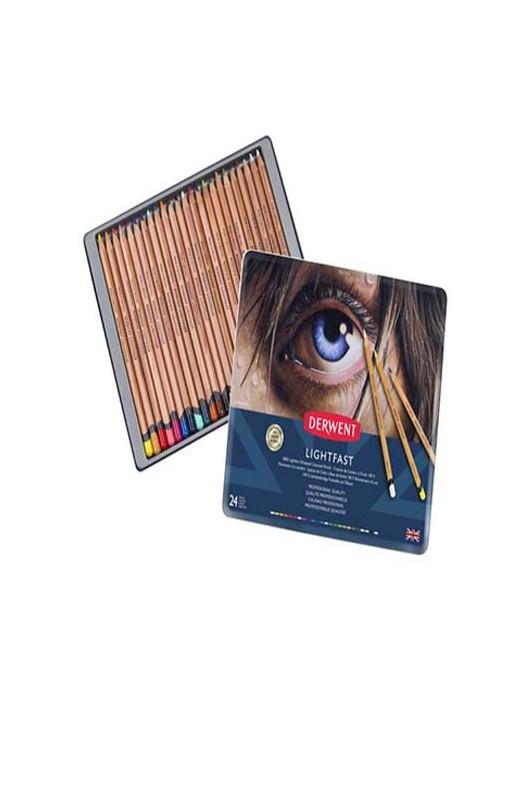 Derwent Lightfast Oil-based Colored Pencil Set of 24 - The ...