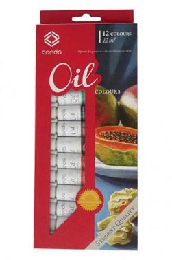 Conda Oil Paint Set of 12 Colors