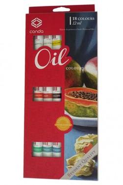Conda Oil Paint Set of 18 Colors