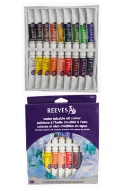 Reeves Watermixable Oil Paint 18 Colors Set 10ml