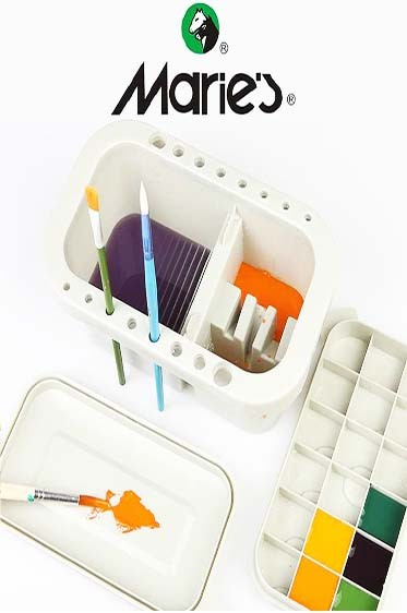 Maries 3 in 1 Brush Washer and Holder