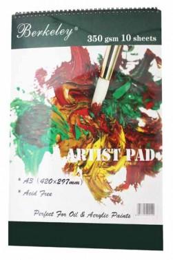 Berkeley Artist Pad A3 350gsm 10 Sheets