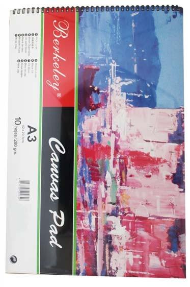 Berkeley Canvas Pad A3 280gsm 10 Sheets