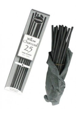 Coates Charcoal:  Coates Willow Charcoal Medium 25pcs Set