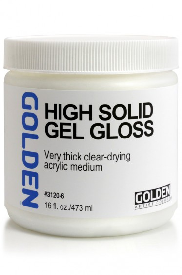 Golden Acrylic Medium: High Solid Gel Gloss 473ml