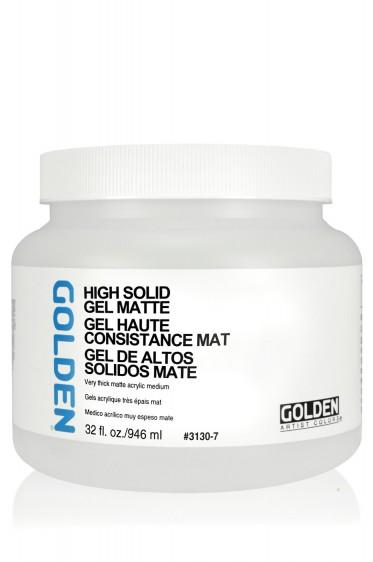 Golden Acrylic Medium: High Solid Gel Matte 946ml