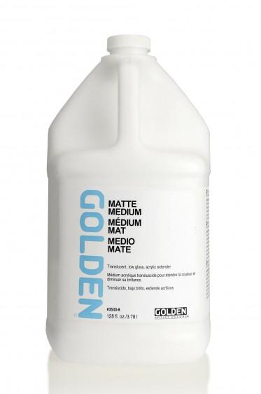Golden Acrylic Medium: Matte Medium 1 Gallon