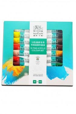 Winsor & Newton Fine Acrylic  China:  Set of 18 colors 10ml