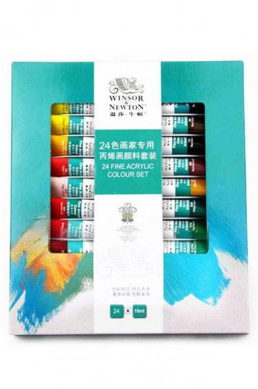 Winsor & Newton Fine Acrylic China: Set of 24 colors 10ml