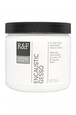 R&F Encaustic Paint Ground: R&F Encaustic Gesso  473ml