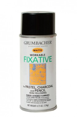 Grumbacher Oil Medium: Workable Fixative Matte 133ml