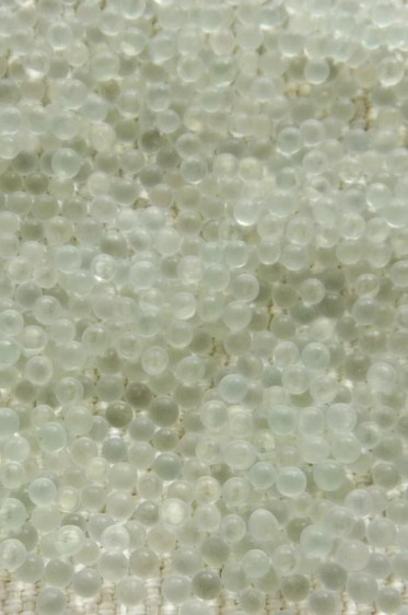 Deco Beads: Plastic Texture Beads Clear 2mm