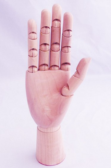 Wooden Mannequin & Models: Wooden Female Right Hand Manikin
