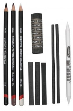 Derwent Charcoal Pencil Set:  Charcoal Pencil Set 10pcs Set