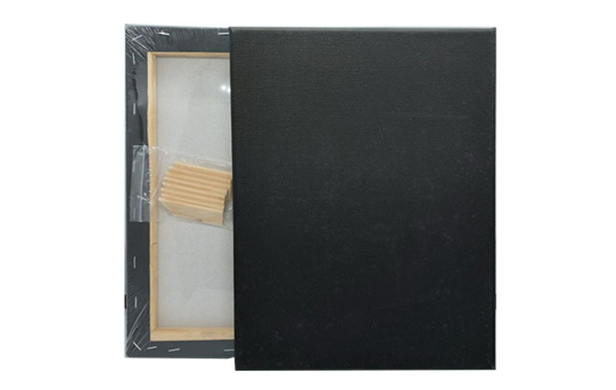 Abstrack Black Stretched Canvas