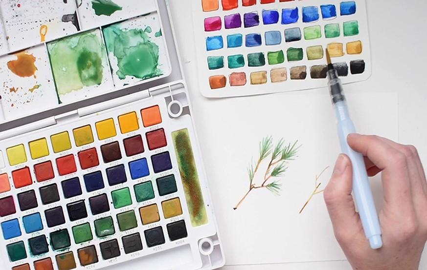 Sakura Koi & Mat Watercolor
