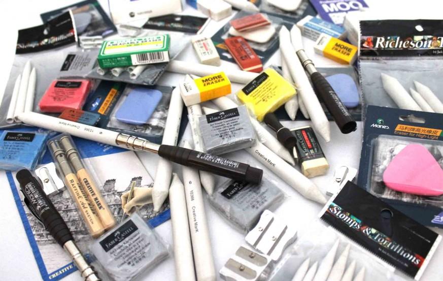 Blending Stumps Eraser and Sharpeners