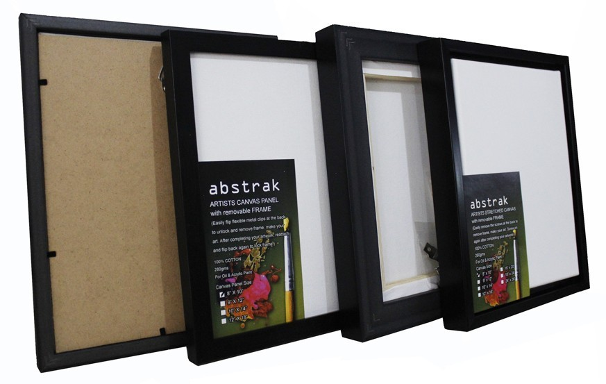 Abstrak Artists Canvas Stretched & Panel with Removable Frame